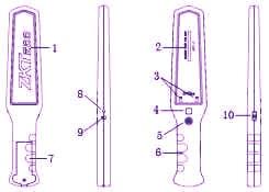 راکت بازرسی بدنی ZK D180| zkteco -d180